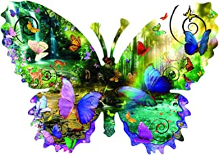 product image for Forest Butterfly 1000 pc Shaped Jigsaw Puzzle by SunsOut