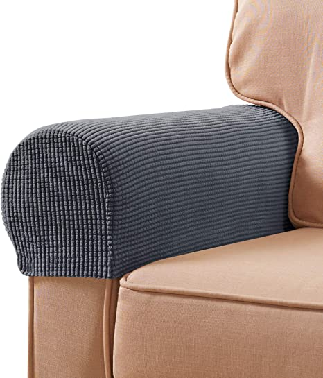 Set of 2 Armrest Covers Stretchy Chair Couch Sofa Arm Protectors Stretch A+