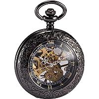 AMPM24 WPK164 - Reloj de Bolsillo Hombre Mecánico de Cuerda Manual, Caja Negra