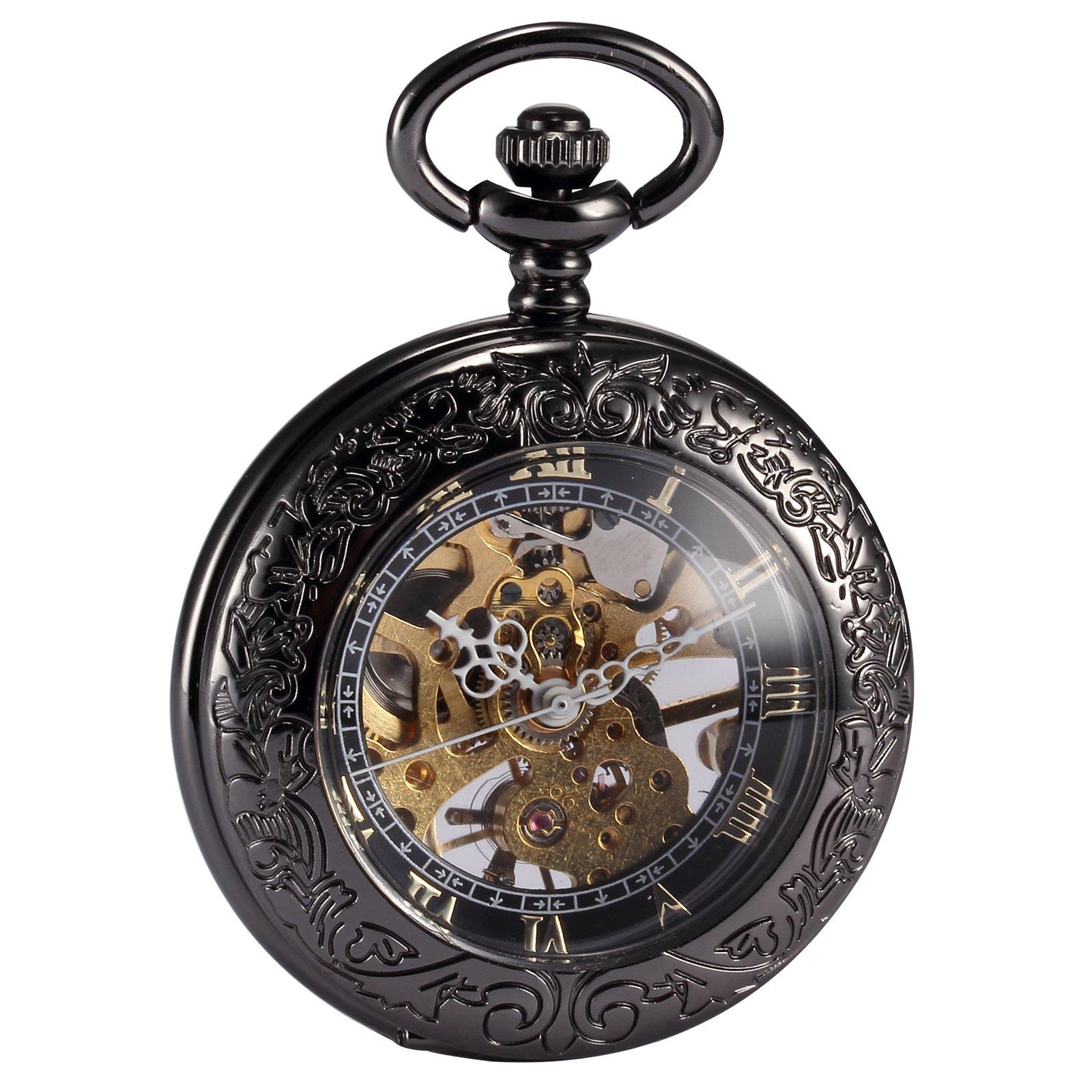 Superior AMPM24 WPK164 U2013 Pocket Watch, Black