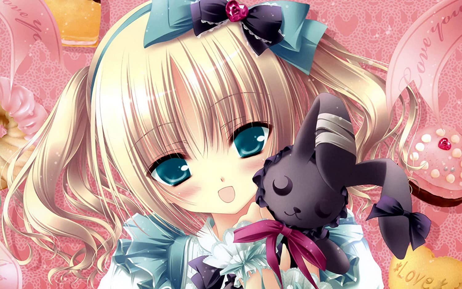 Athah Designs Anime Short Hair Girl Blonde Blue Eyes Cute Doll 13 19 Inches Wall Poster Matte Finish Amazon In Home Kitchen