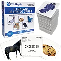THINKPSYCH Verb Flash Cards for Toddlers. 90 Multicultural Action Picture Cards with Language Tracker Tool, Language…