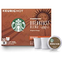 Starbucks 32 Count Breakfast Blend Medium Roast Single Cup Coffee for Keurig Brewers