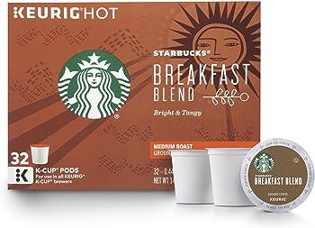 32-Count Starbucks Breakfast Blend Medium Roast Single Cup Coffee