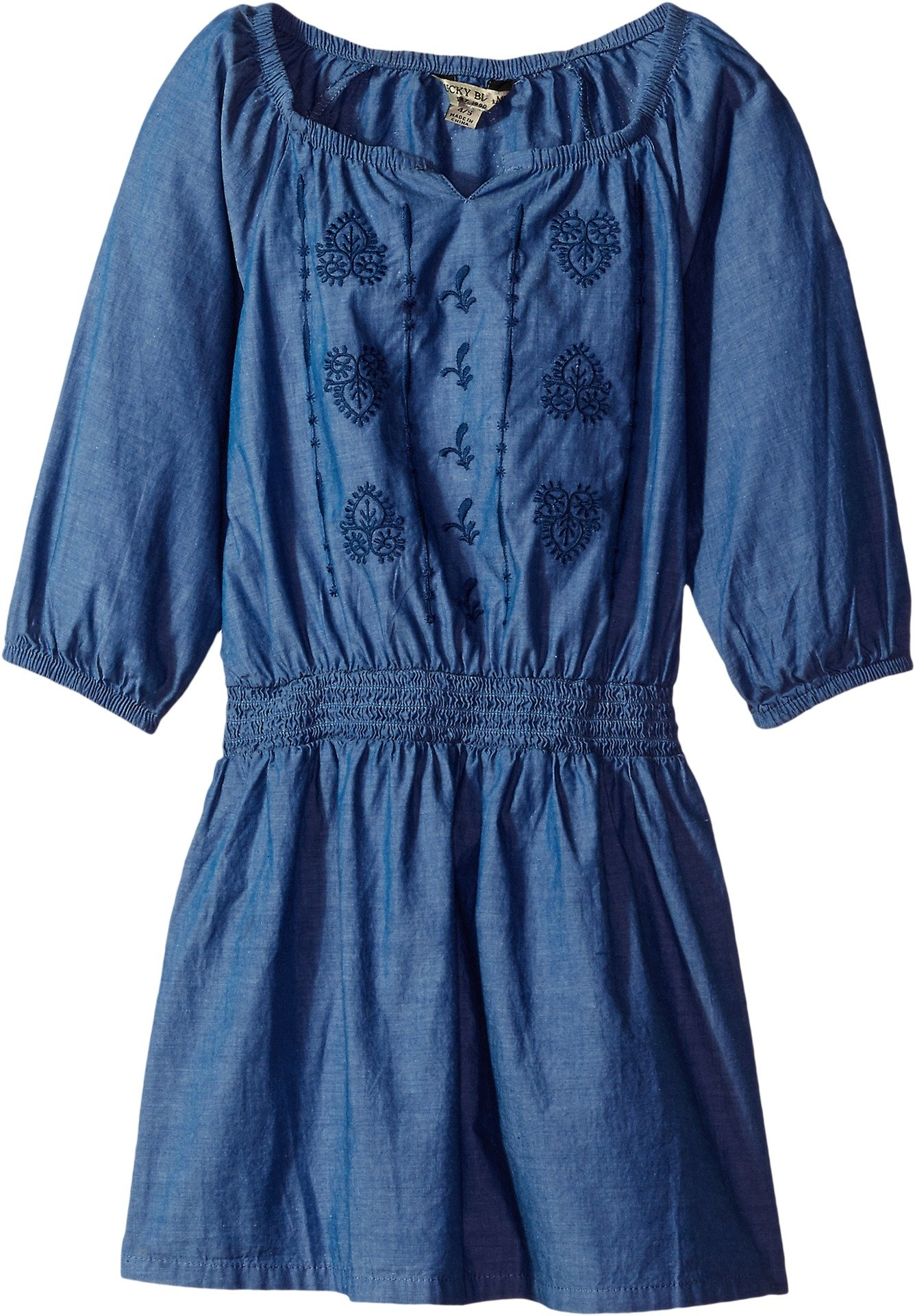 Lucky Brand Big Girls' Long Sleeve Fashion Dress, Amanda Suki Wash, Medium (8/10)