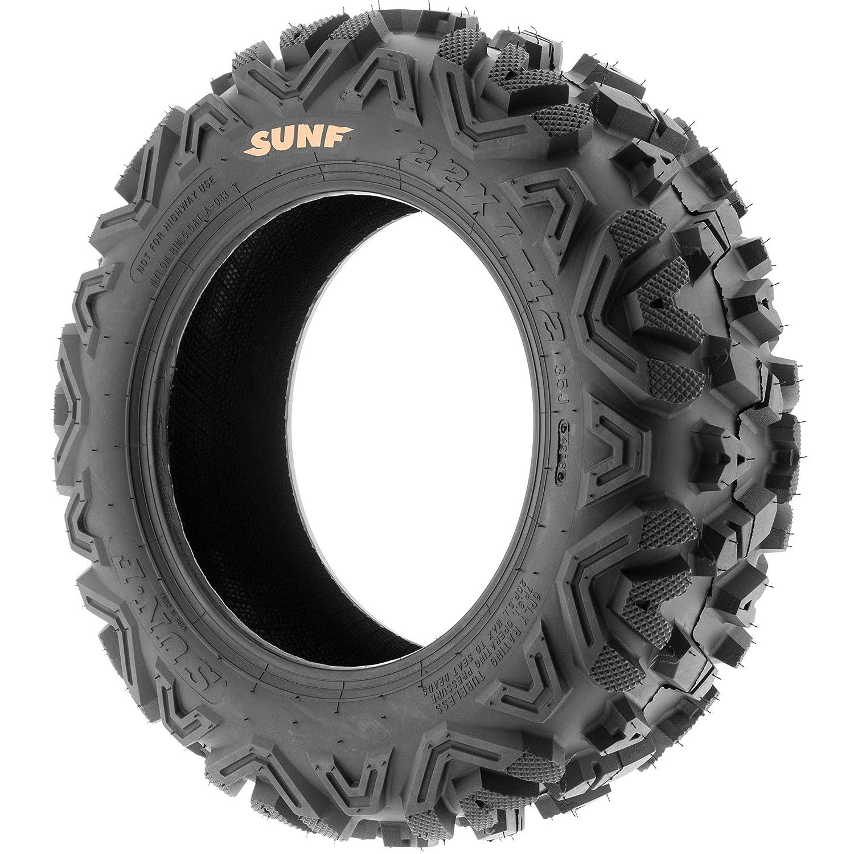 SunF 25x10-11 25x10x11 ATV UTV A//T Replacement Race 6 PR Tubeless Tires A033 POWER I, Set of 2