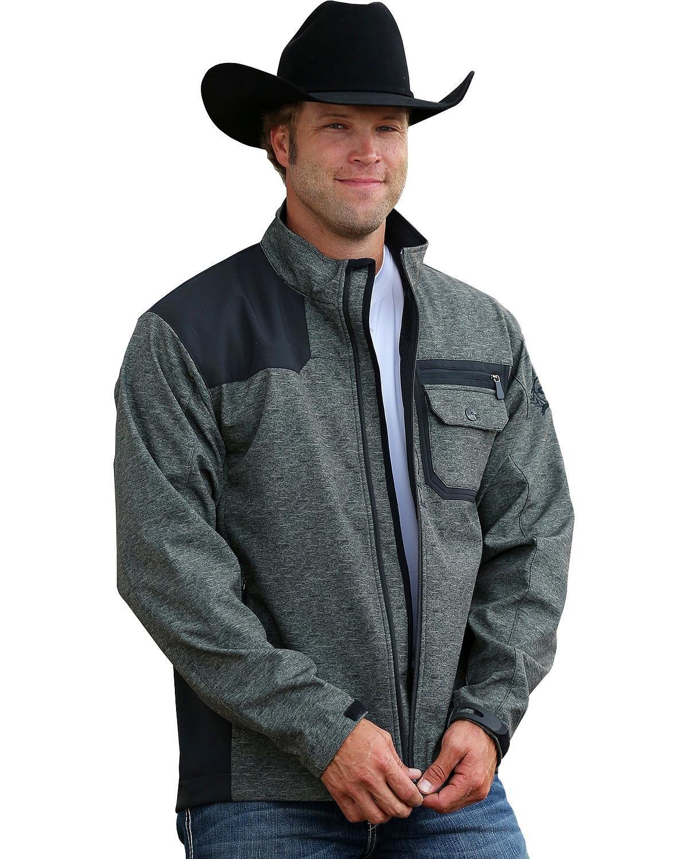 Cinch Men's Printed Contrast Bonded Softshell Jacket, Olive, X-Large