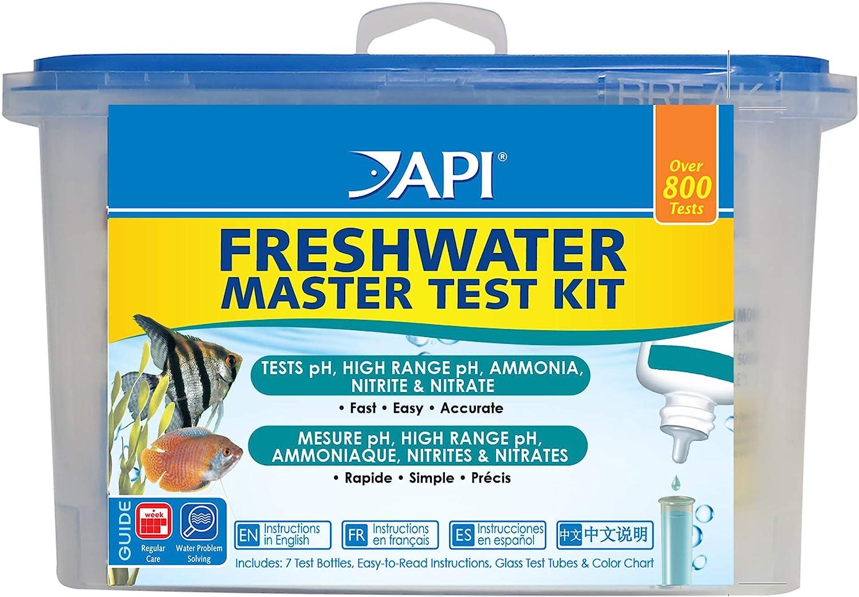 B000255NCI API FRESHWATER MASTER TEST KIT 800-Test Freshwater Aquarium Water Master Test Kit 81OQUKG2l9L