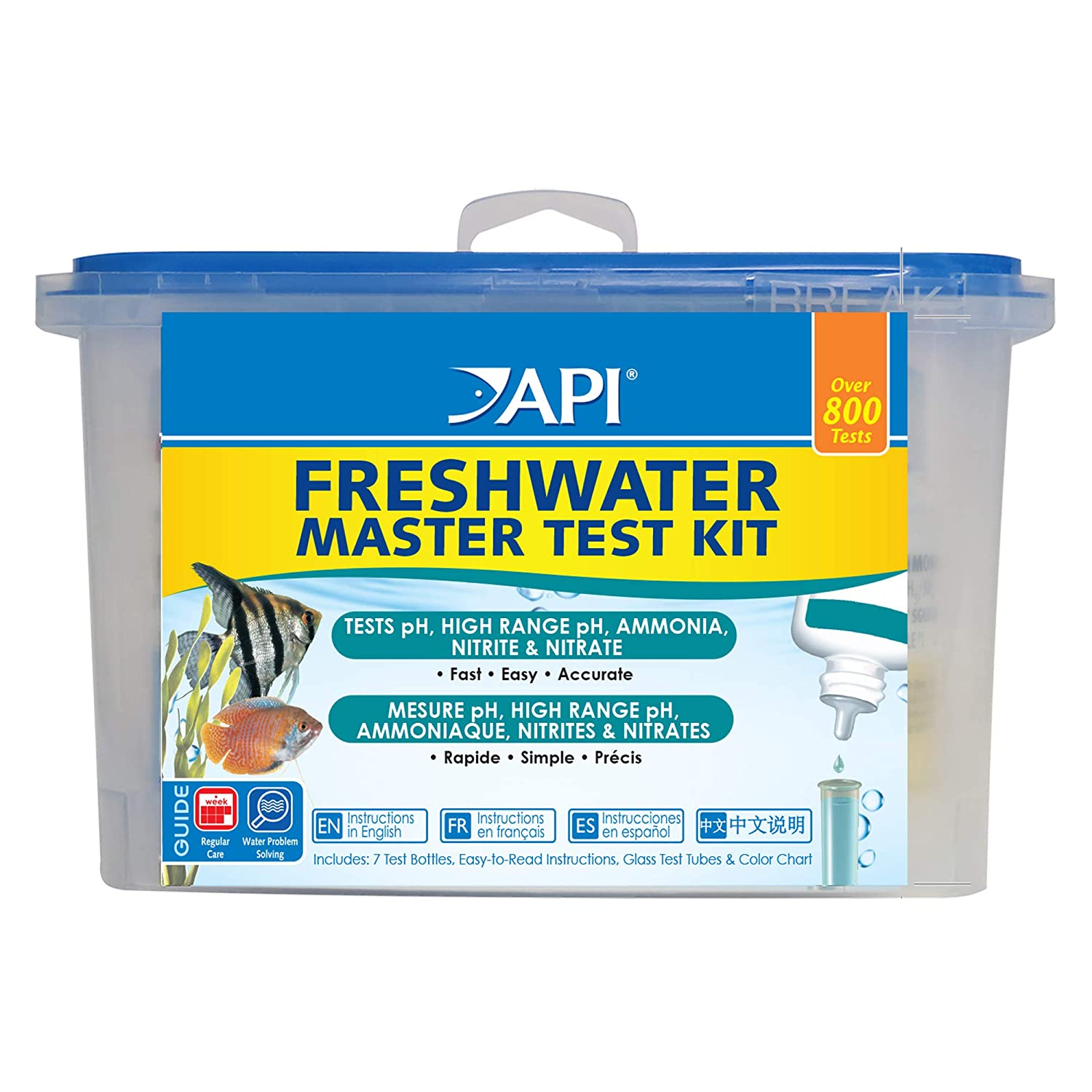 API Master Test Kits for Freshwater, Saltwater, Reef Aquariums and Pond, Monitor Water Quality and Help Prevent Invisible Problems That can be Harmful to Fish, Use Weekly and When Problems Appear