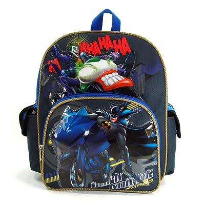 "Batman - Dark Knight 12"" Toddler Backpack - Batman on Batbike"