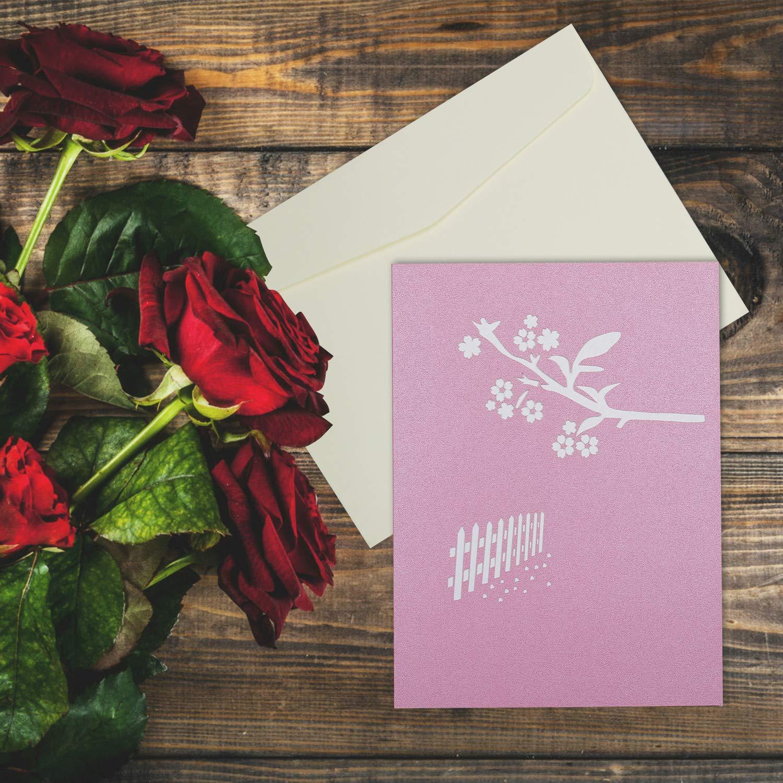 Cartes Kateluo Pop Up Carte 3d Romantique Sakura Carte De Voeux Anniversaire Invite Mariage Carte Amour Pour Fete Saint Valentin Cadeaux Carte Anniversaire Marriage Type2 Cuisine Maison Hotelaomori Co Jp