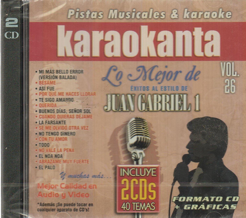 Juan Gabriel (2CDs 40 Pistas Musicales y Karaoke Volumen#26 CDJ-7026) by Discos Jade