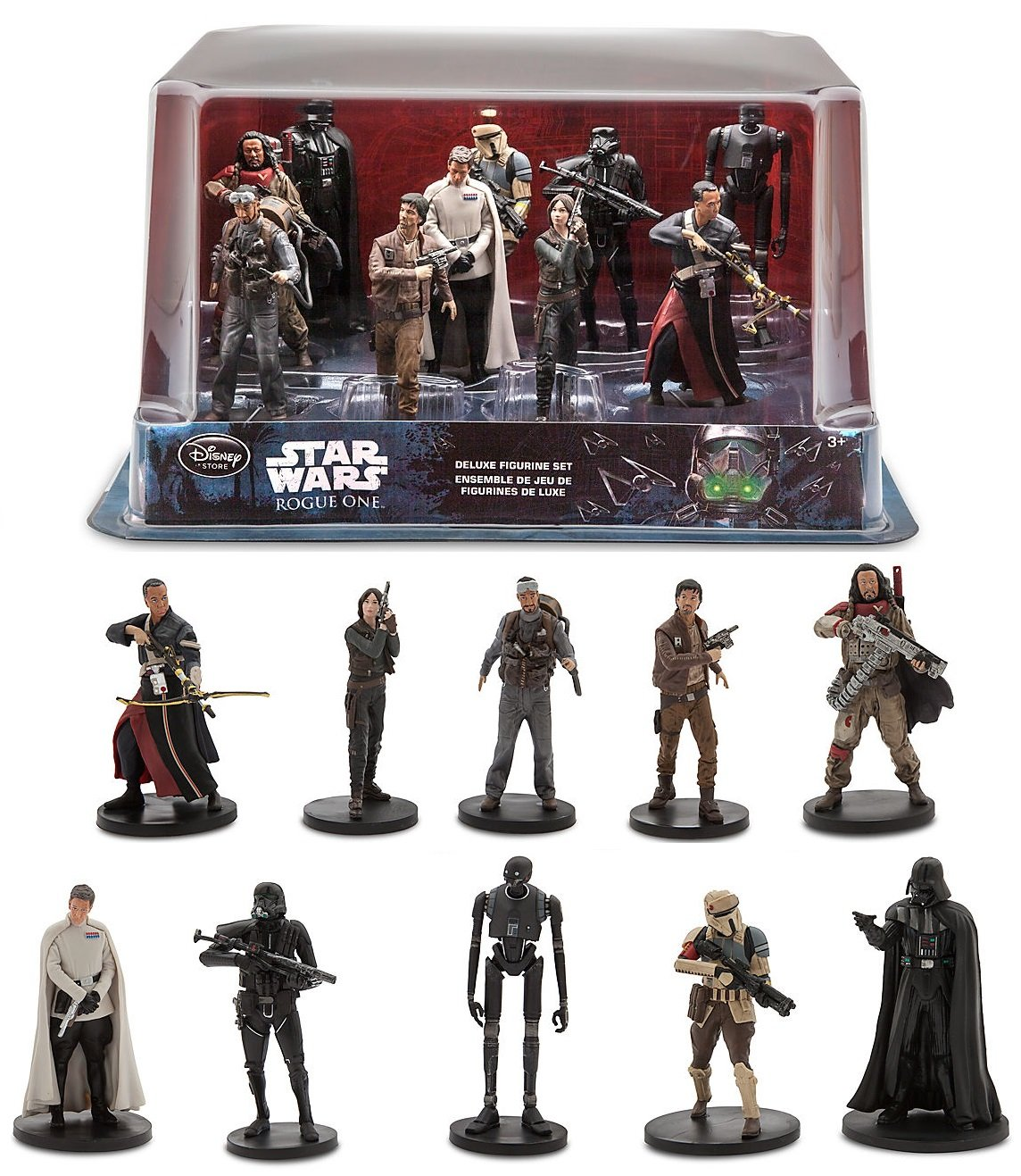 star wars rogue one a star wars story deluxe figurine cake topper play set ebay. Black Bedroom Furniture Sets. Home Design Ideas