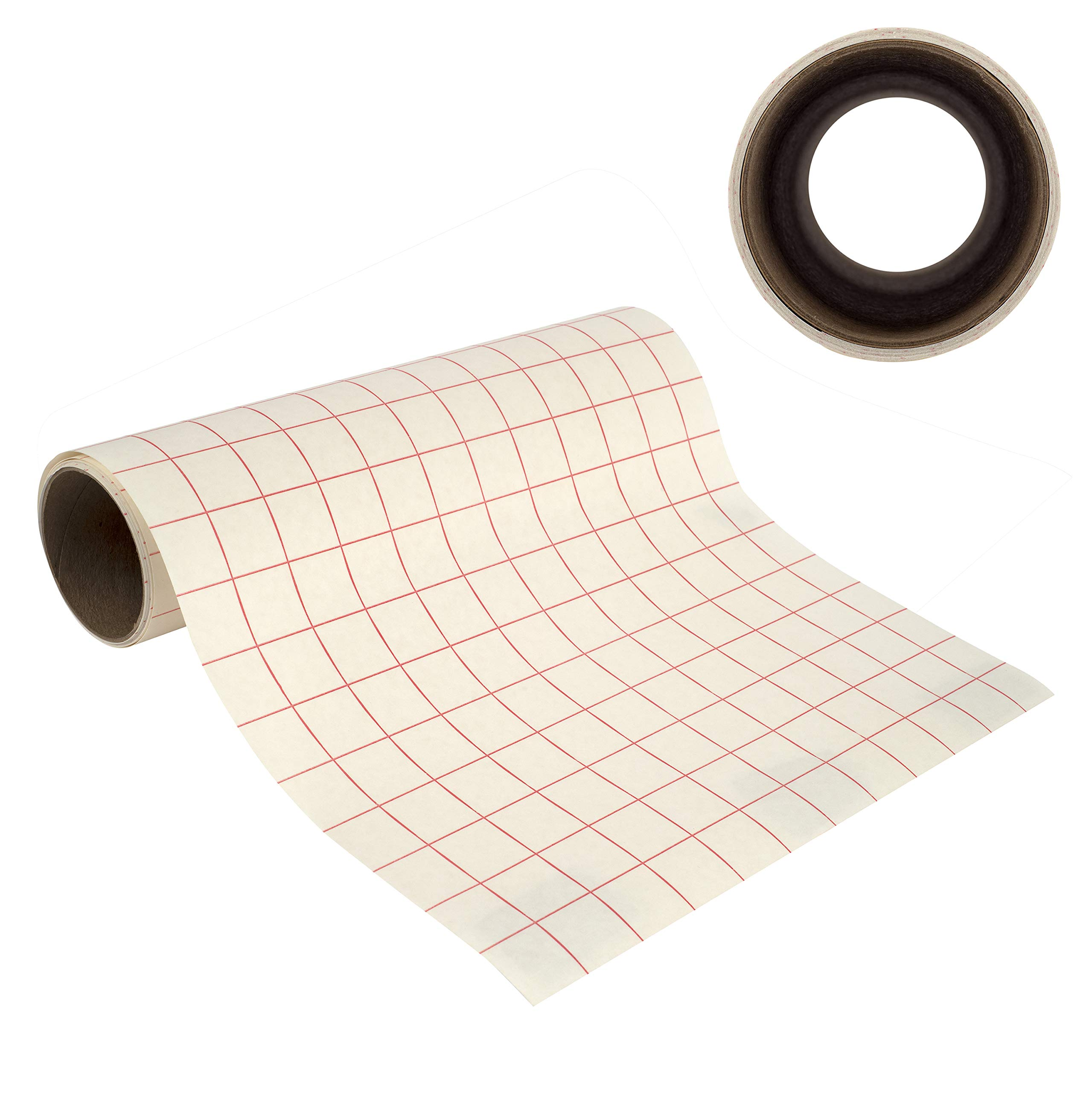 Angel Crafts 12'' by 8' PREMIUM Transfer Paper Tape Roll with Grid - PERFECT ALIGNMENT for Cricut or Silhouette Cameo Self Adhesive Vinyl for Walls, Signs, Decals, Windows, and More by Angel Crafts