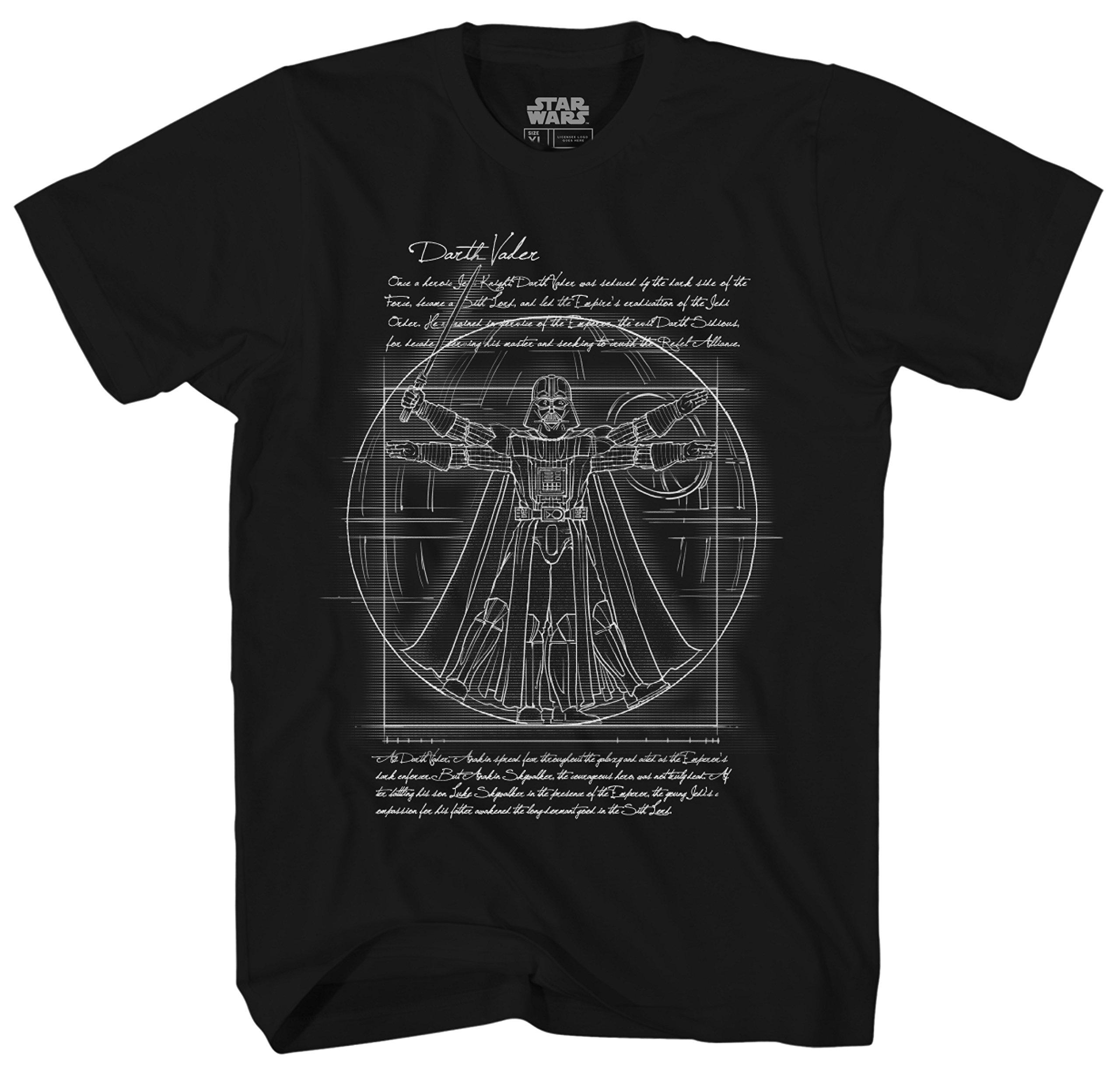 Star Wars Vitruvian Darth Vader S Adult Graphic Tee Tshirt