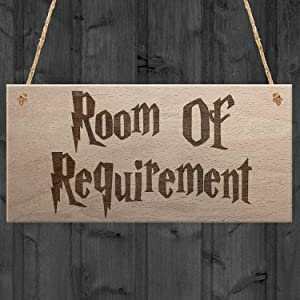 XLD Store Room of Requirement Wizardry Hanging Plaque Magic Gift Bedroom Toilet Wood Sign