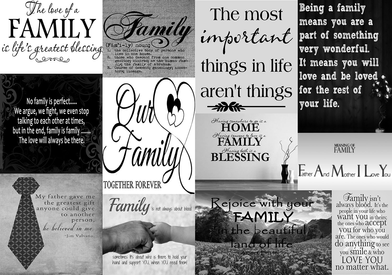 Family quotes canvas wall art picture black x 20 a1