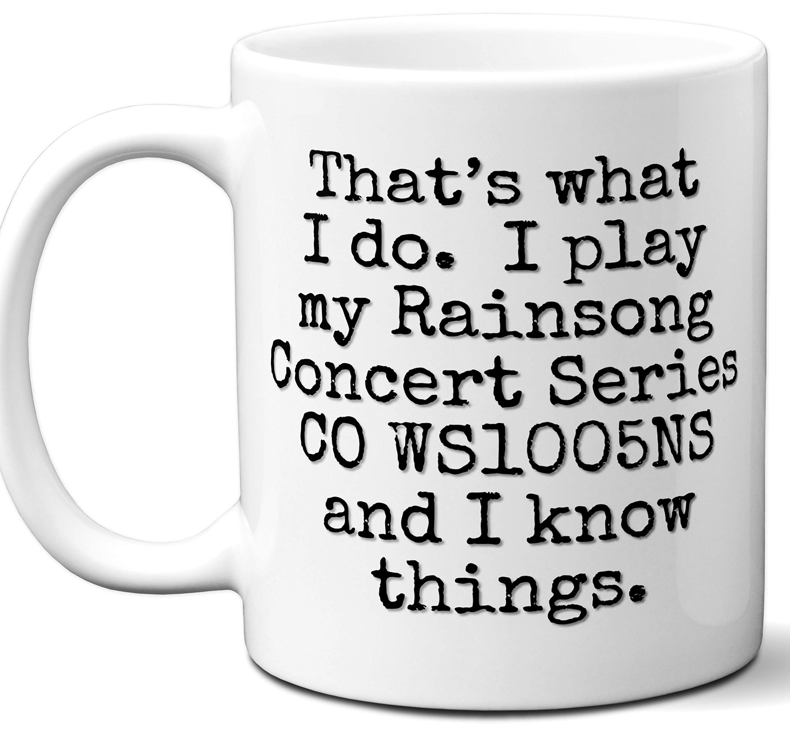 Guitar Gifts Mug. Rainsong Concert Series CO WS1005NS Guitar Players Lover Accessories Music Teacher Lover Him Her Funny Dad Men Women Card Pick Musician Acoustic Unique by Ombura