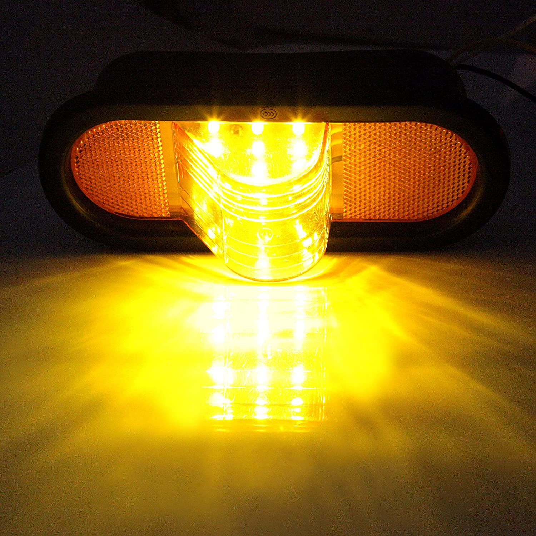 Amazon.com: ECCPP 2 PCS Turn Signal Universal Amber Marker Light Rubber  Mount 20 LED w/reflector: Automotive