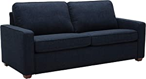 """Rivet Andrews Contemporary Sofa with Removable Cushions, 82""""W, Wathet Blue"""