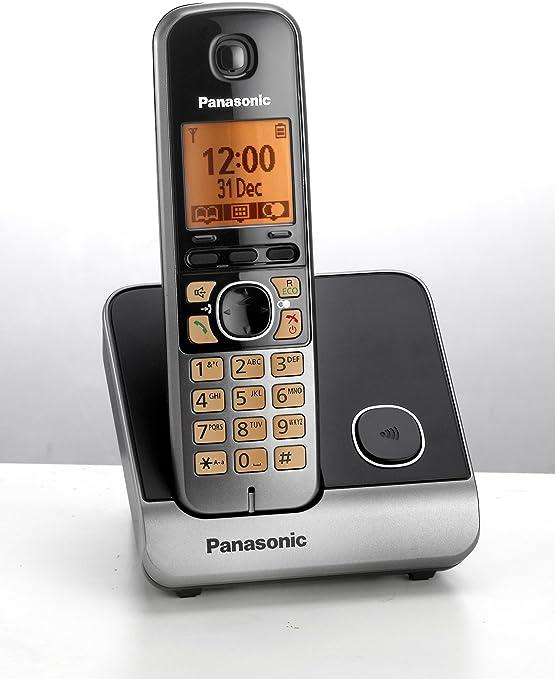Panasonic KX-TG6711 DECT Identificador de Llamadas Negro, Gris: Amazon.es: Electrónica