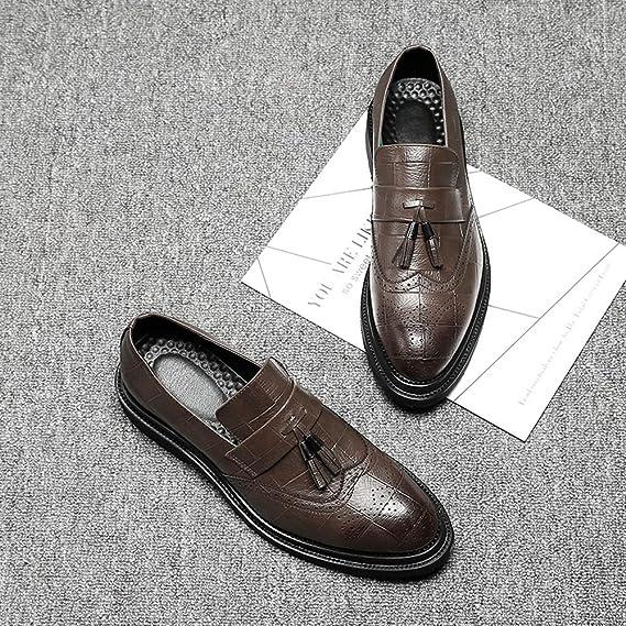 GS Zapatos zapatos de Hombre de Brogue de Hombre Cuero de la PU Superior Borla aac222