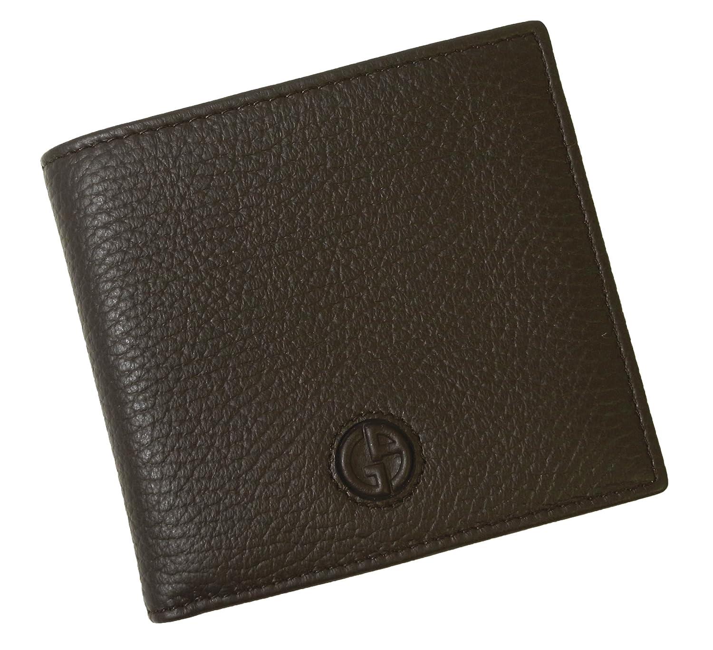 [アルマーニ] 財布 ジョルジオアルマーニ 二つ折 メンズ (ダークブラウン) A-2329 [並行輸入品] B01K1PMRXG