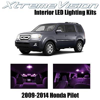 Xtremevision Interior LED for Honda Pilot 2009-2014 (16 Pieces) Pink Interior LED Kit + Installation Tool: Automotive