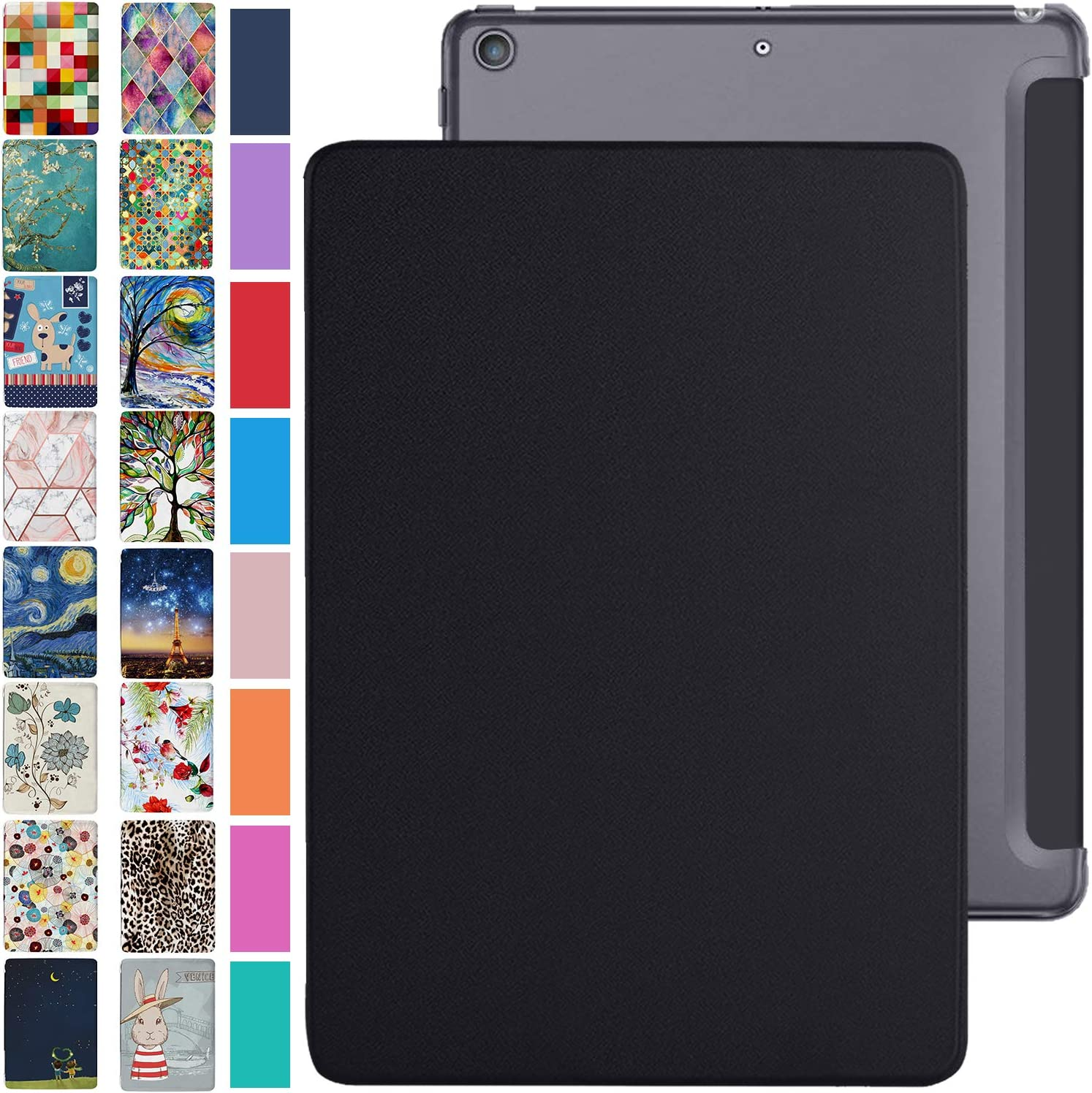 DuraSafe Cases For iPad Mini 7.9 Inch 4 Gen [ Mini 4th Generation 2015 ] TriFold PC Lightweight Smart PU Leather Protective Hard Back Cover - Black