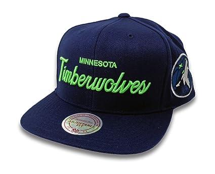 a48c5bbc38a Amazon.com  Mitchell   Ness Minnesota Timberwolves Script Snapback ...