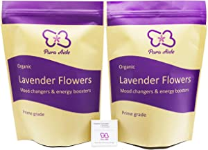 Pura Aide Dried Lavender Buds Prime Grade for Fragrancing & Refreshing Sachets Aromatherapy Potpourri 8 oz (1/2 lb)