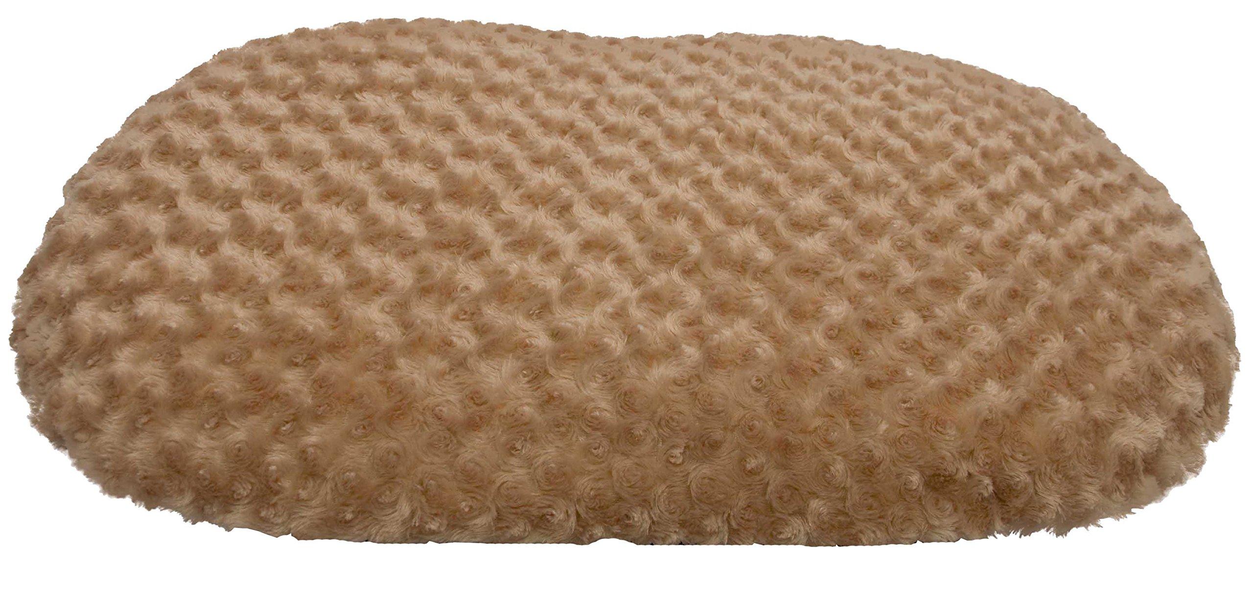 Iconic Pet Luxury Swirl Fur Pet Bed, Medium, Beige
