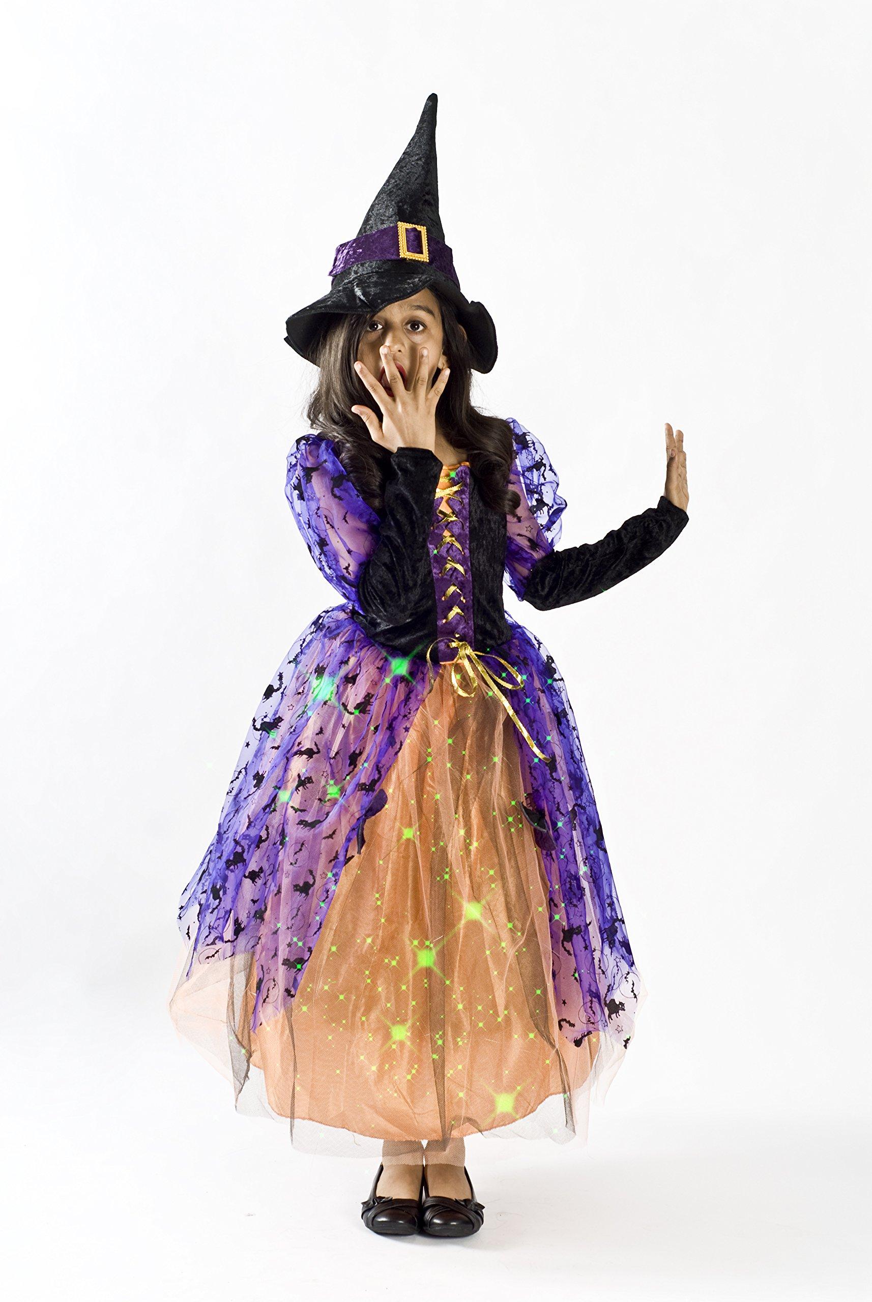 Witch Halloween Costume Girls M (6-8)