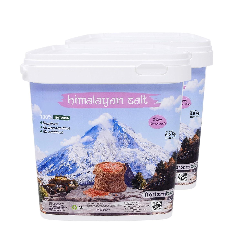 NortemBio Pink Himalayan Salt 1, 4 Kg. Fine Grain (1-2 mm). 100% Natural. Unrefined. Non-preservatives. Hand-Harvested. Premium Quality. Nortem Biotechnology