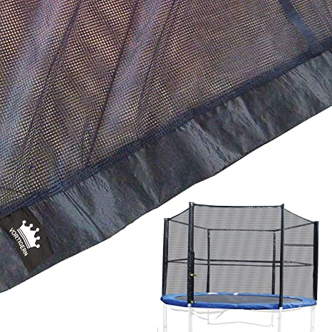 BodyRip Replacement Trampoline Safety Net Surround Set with Poles /& Fixings