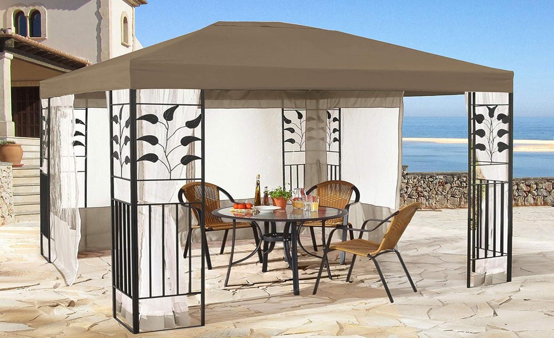 QUICK STAR Techo de Repuesto para cenador de 3 x 4 m Gazebo Marrón-Gris: Amazon.es: Jardín