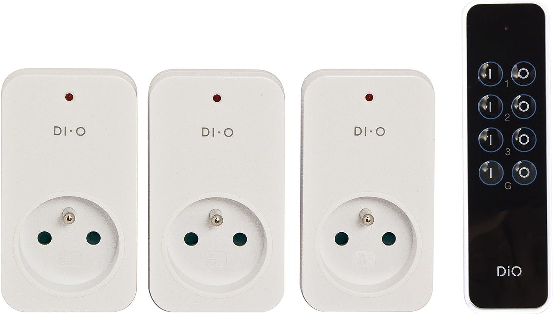 Dio Connected Home 3 Prises Télécommandées Onoff 2300w Télécommande 3 Canaux Di O First Chacon 54795