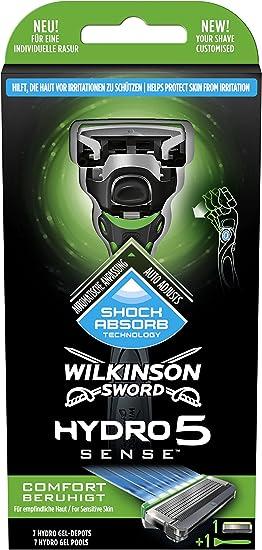 Wilkinson Sword Hydro 5 Sense Hombre afeitadora, con 1 hoja, 1 St ...