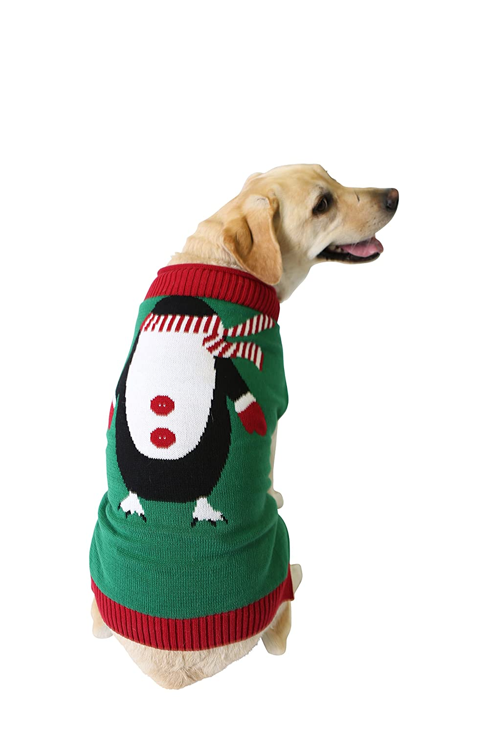 Christmas Sweaters For Dogs.Ugly Christmas Sweater Penguin Dog Sweater