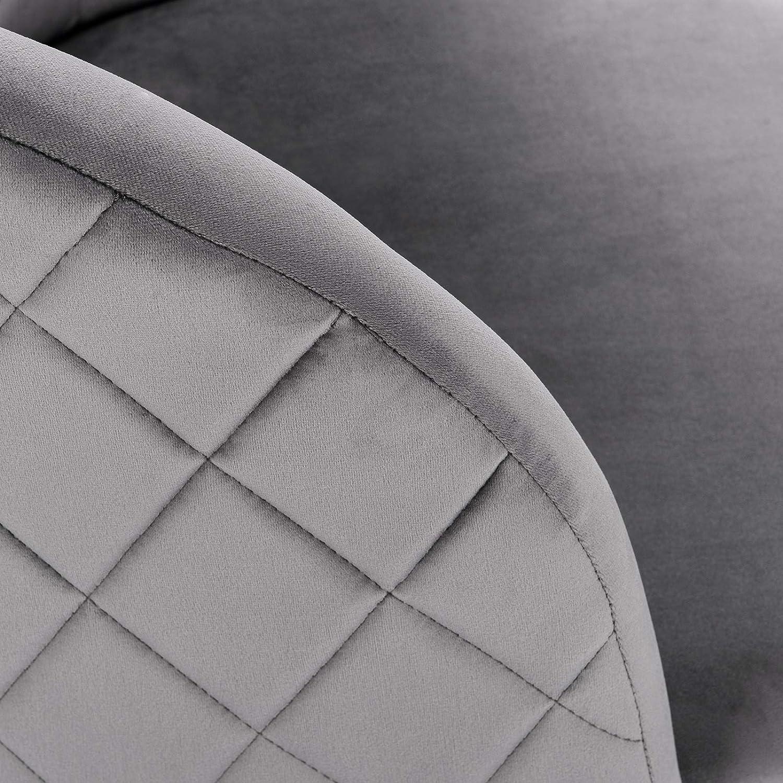 eSituro 1 x Sedia Sala da Pranzo Poltroncina Camera da Letto Moderna Sedia Elegante Sala dattesa in Velluto Beige per Salotto con Schienale e Braccioli Piedi in Legno SDC0193-1