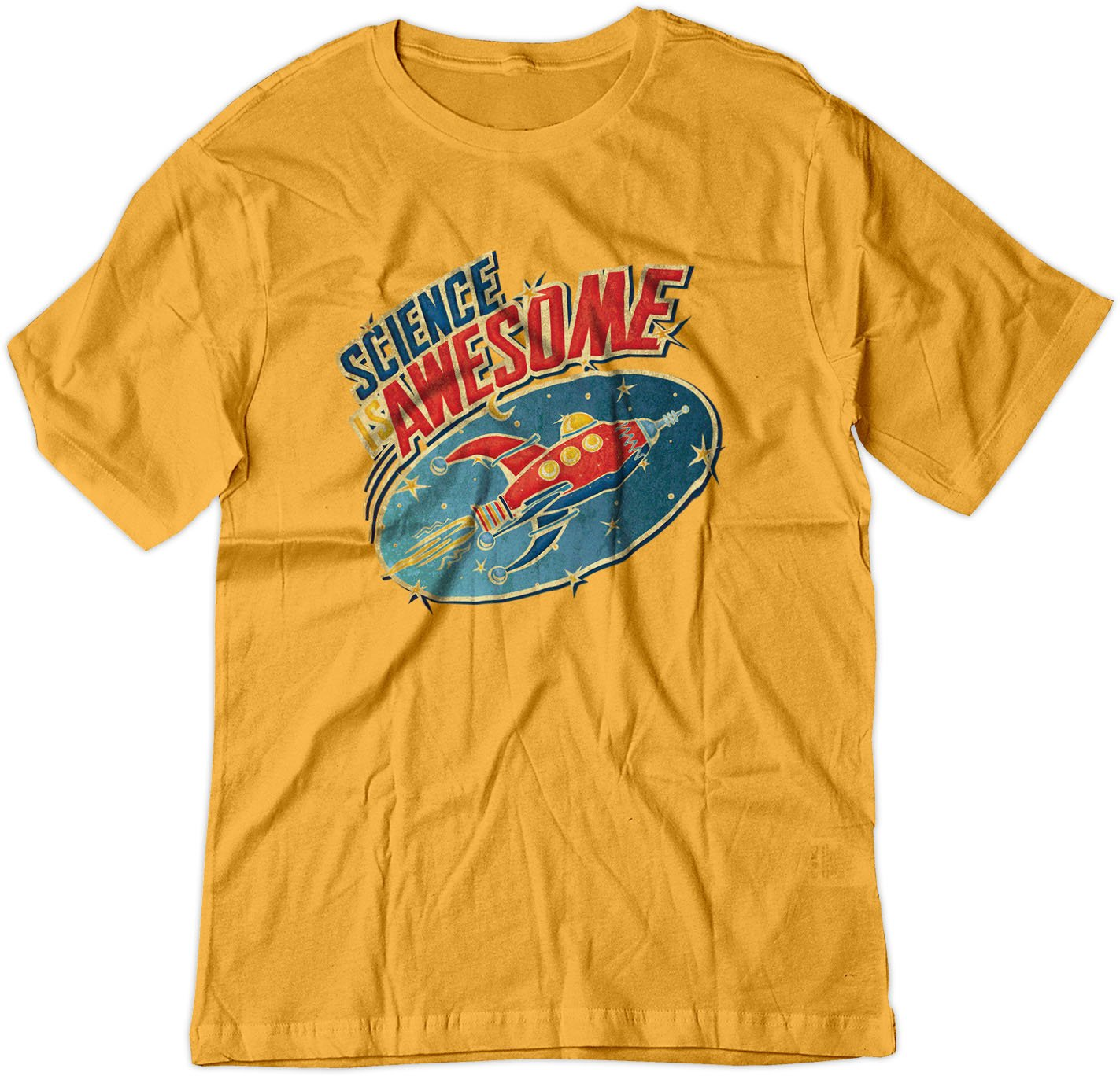 Science Is Awesome Space Rocket Ship Vintage Shirt