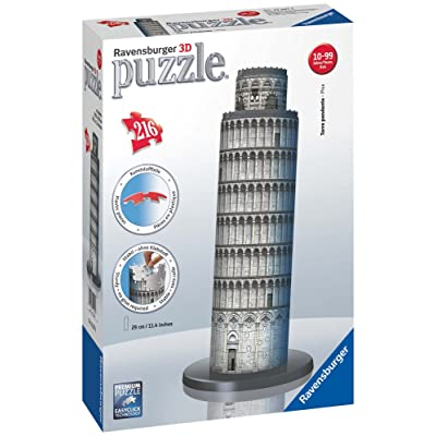 Ravensburger Leaning Tower of Pisa 216 Piece 3D Jigsaw Puzzle for Kids and Adults - Easy Click Technology Means Pieces Fit Together Perfectly: Toys & Games