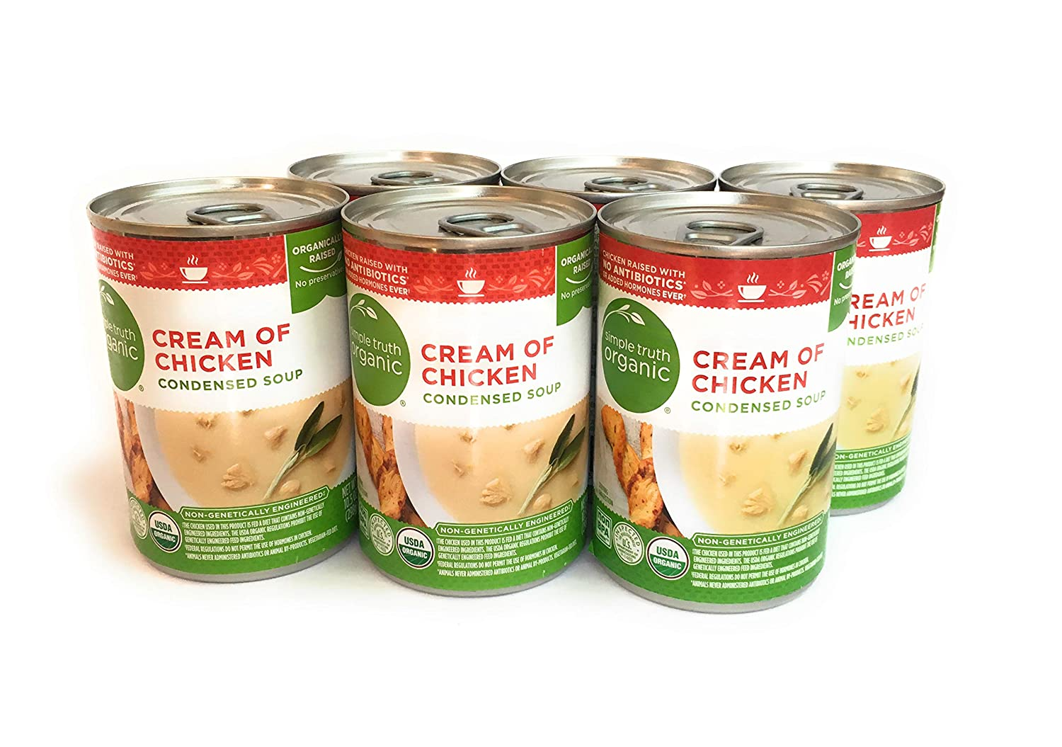 Simple Truth Organic Cream of Chicken Condensed Soup, 10.5 Ounce Can (Pack of 6)