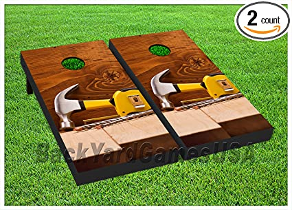 VINYL WRAPS Lucky Poker Hand Cornhole Board DECALS Bag Toss Game Stickers 536