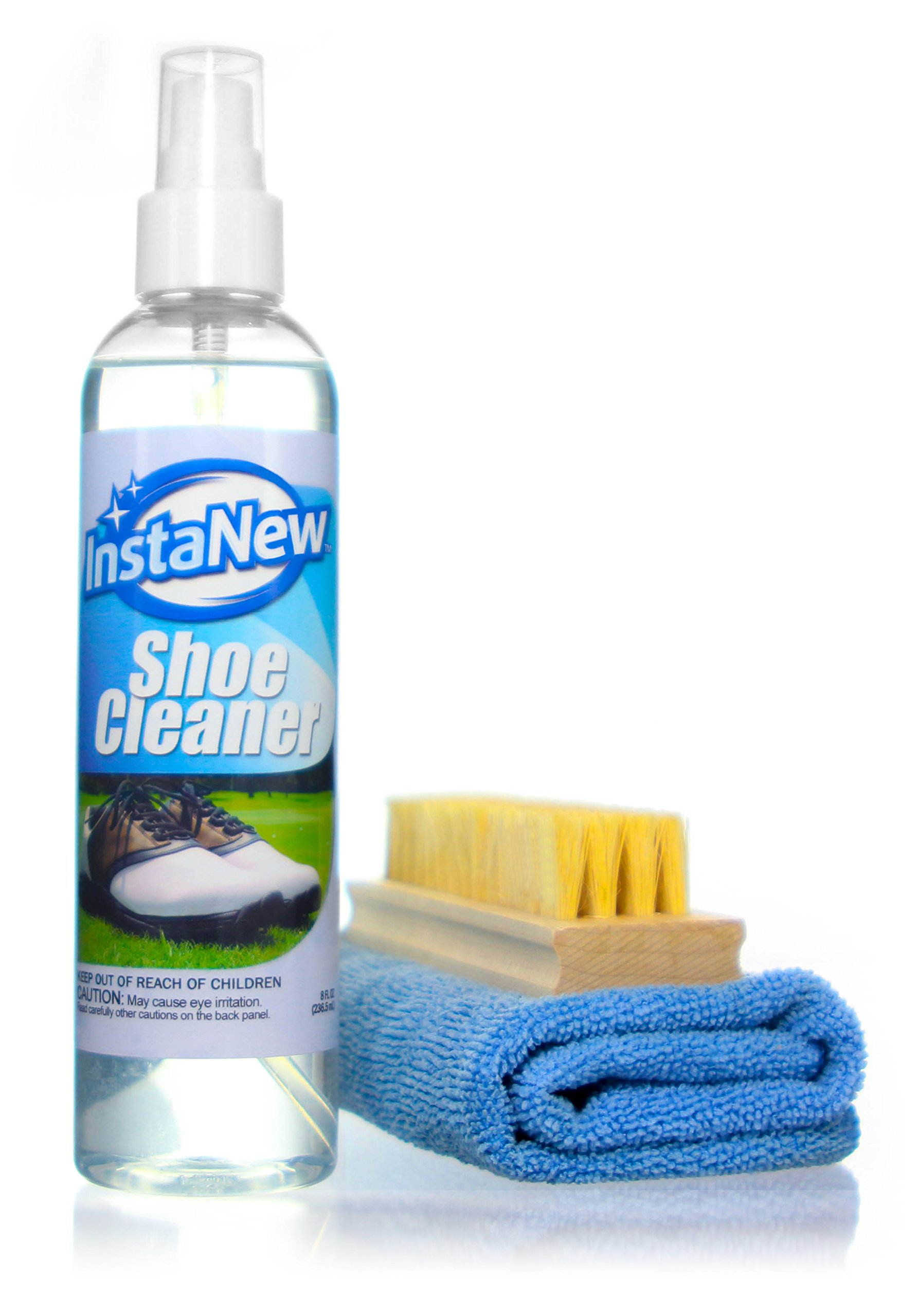 InstaNew Shoe Cleaner Kit by Includes Premium Brush and Microfiber Cloth for All Shoe Types