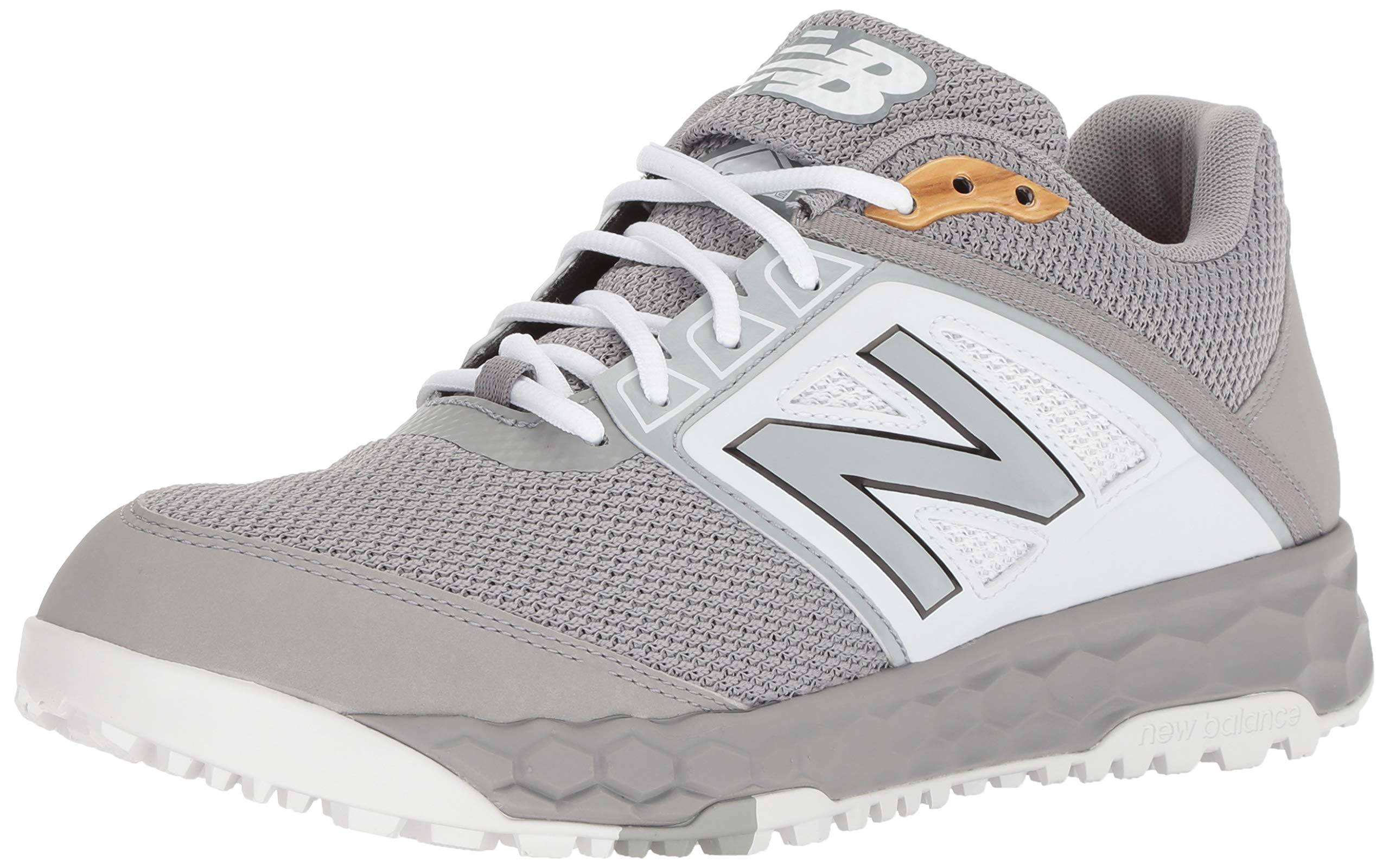 New Balance Men's 3000v4 Turf Baseball Shoe, Grey/White, 12 D US