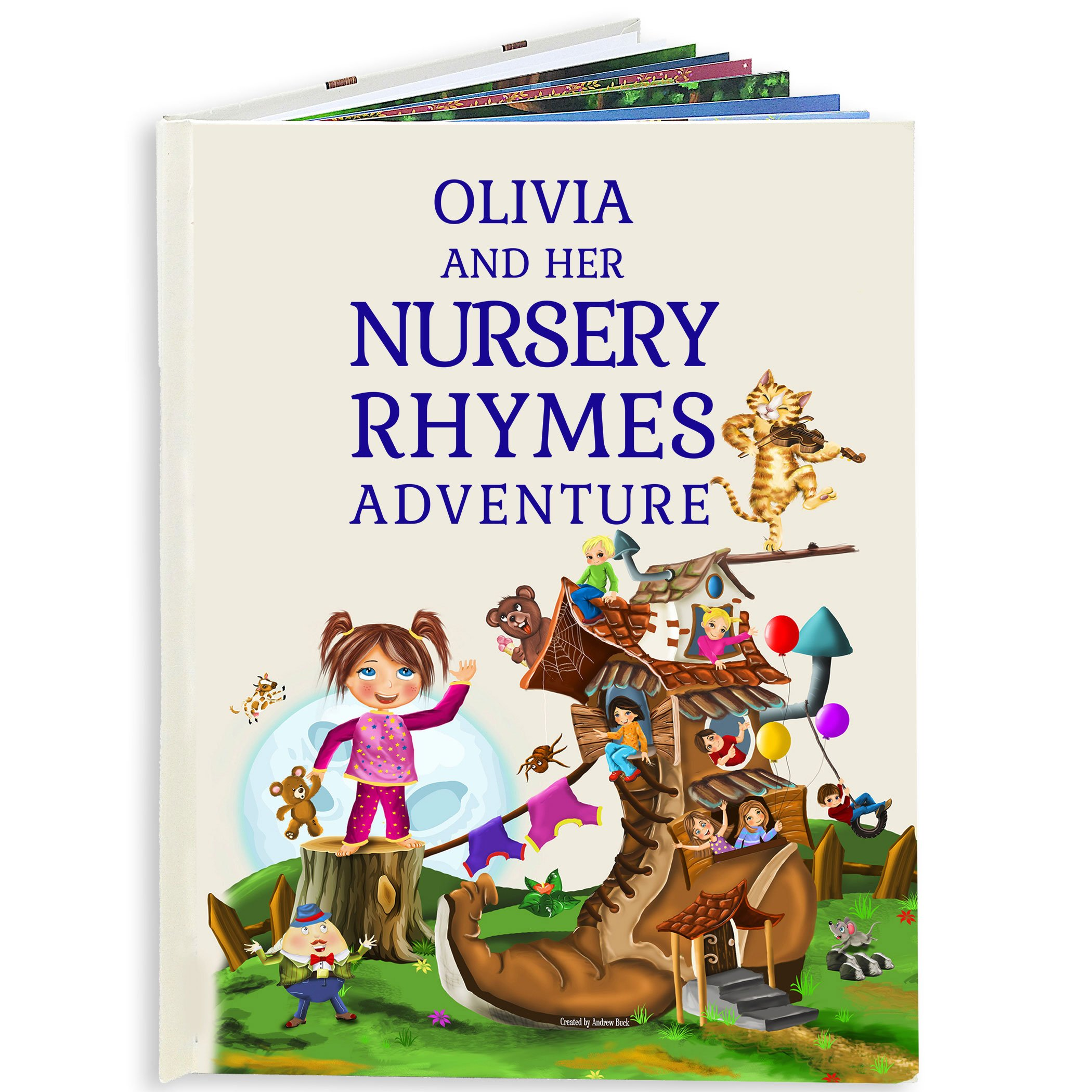 Personalized Nursery Rhymes and Modern Poems Book for Baby and Child - 1st Birthday Keepsake Gift