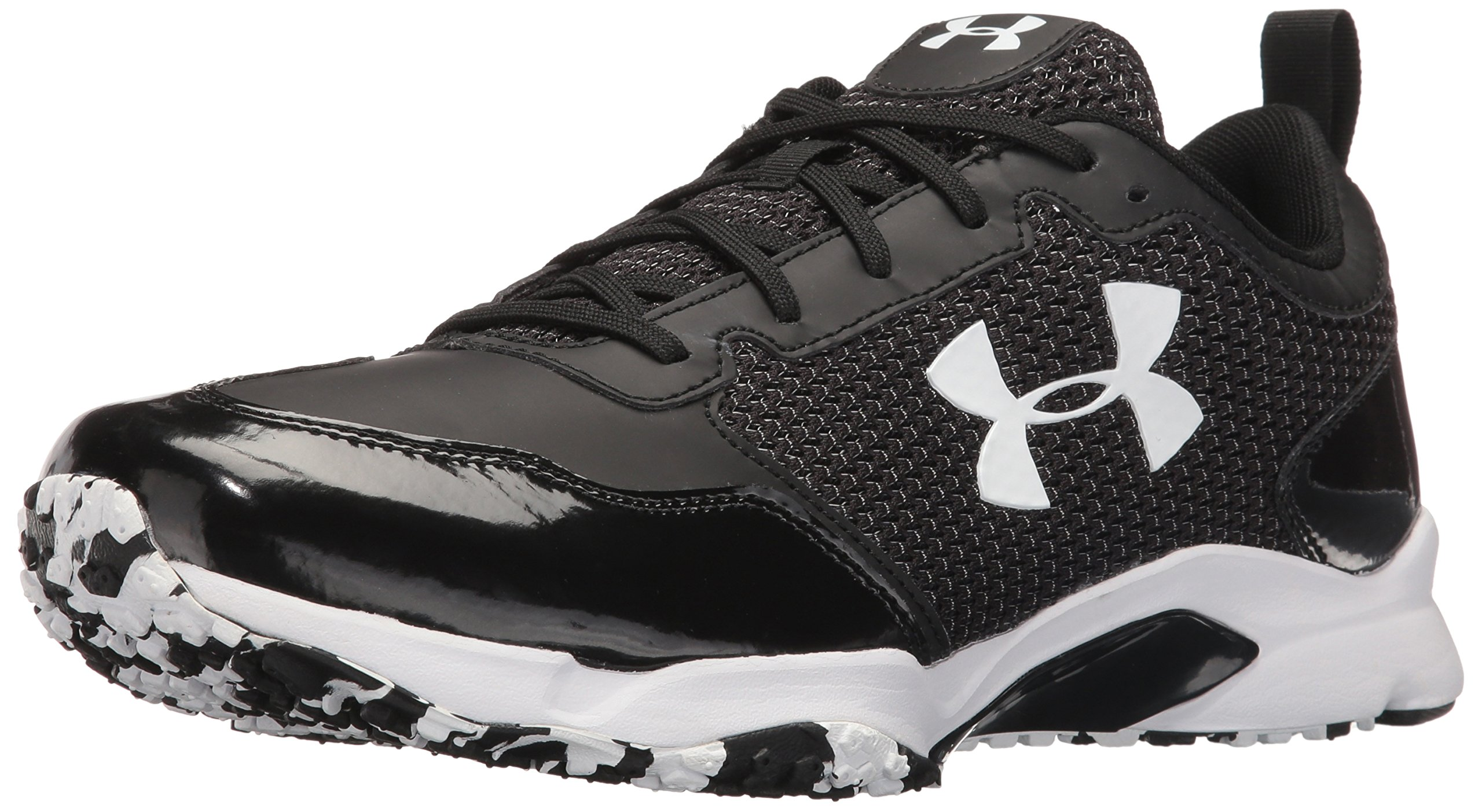 Under Armour Men's Ultimate Turf Trainer Baseball Shoe, Black (001)/Black, 10
