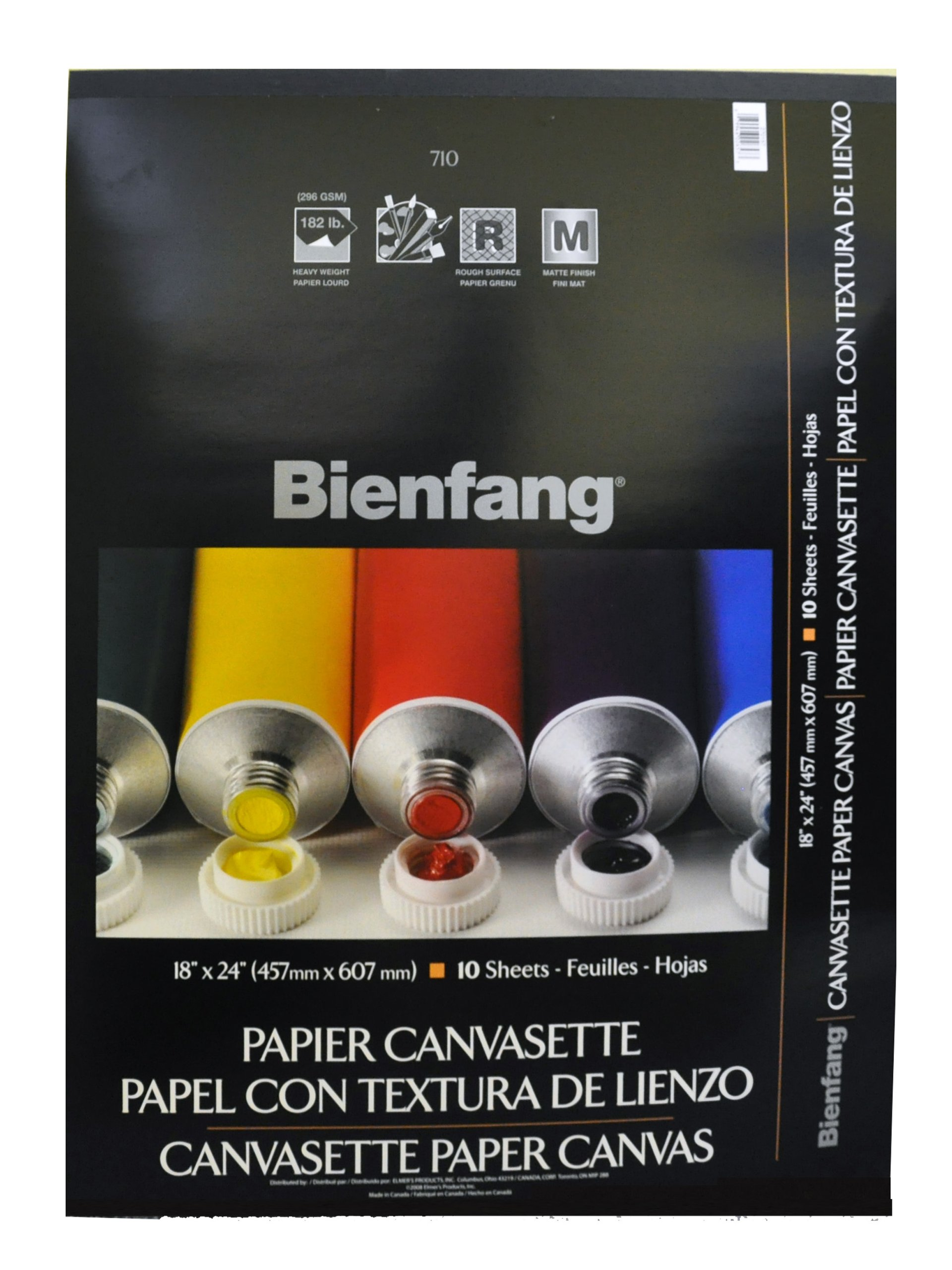 Bienfang Canvasette Paper, 10 Sheets, 18-Inch by 24-Inch by Bienfang