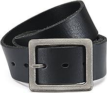 Eg-Fashion Herren Jeansgürtel 100% Büffelleder-Gürtel in 4,5 cm Breite - Individuell kürzbar - 2 Jahre Garantie